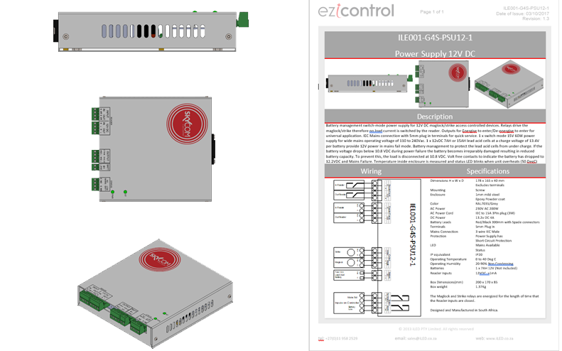 eZi Control Switchmode Power Supplies for G4S